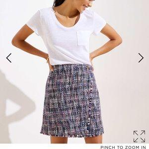 LOFT Frayed Boucle Skirt size 6